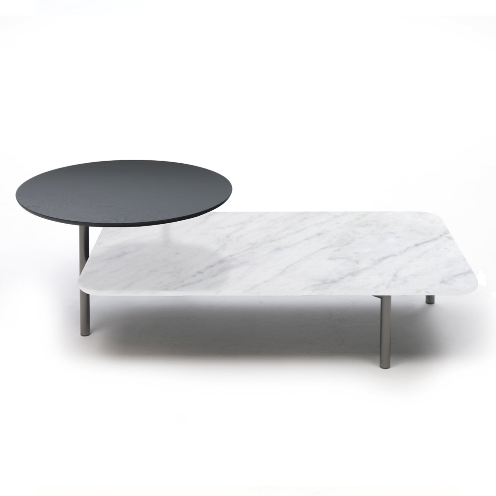 Bitop Table with Marble Top White