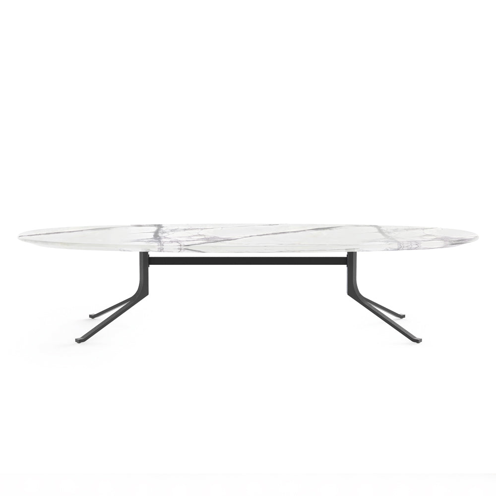 Blink Oval Coffee Table With Stone Top By Stellar Works Do Shop