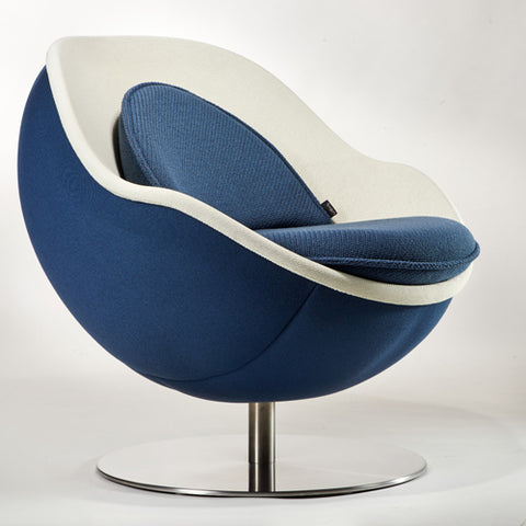 Classic Blue Ball Lounge Chair - Lillus - Lento - Do Shop