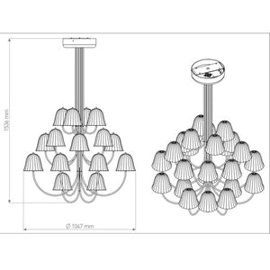 O Mi Kami Chandelier - OLED Light - Blackbody - Do Shop