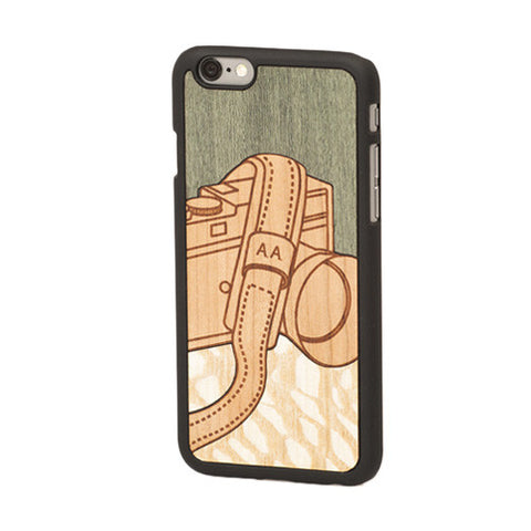"Lens ""Valuable Leisures"" Wood Inlay iPhone 6 Snap-On Cover - Wood'd - Do Shop"