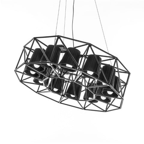 Multilamp Ring Hanging Metal Lamp - 12 Lamps - Seletti - Do Shop