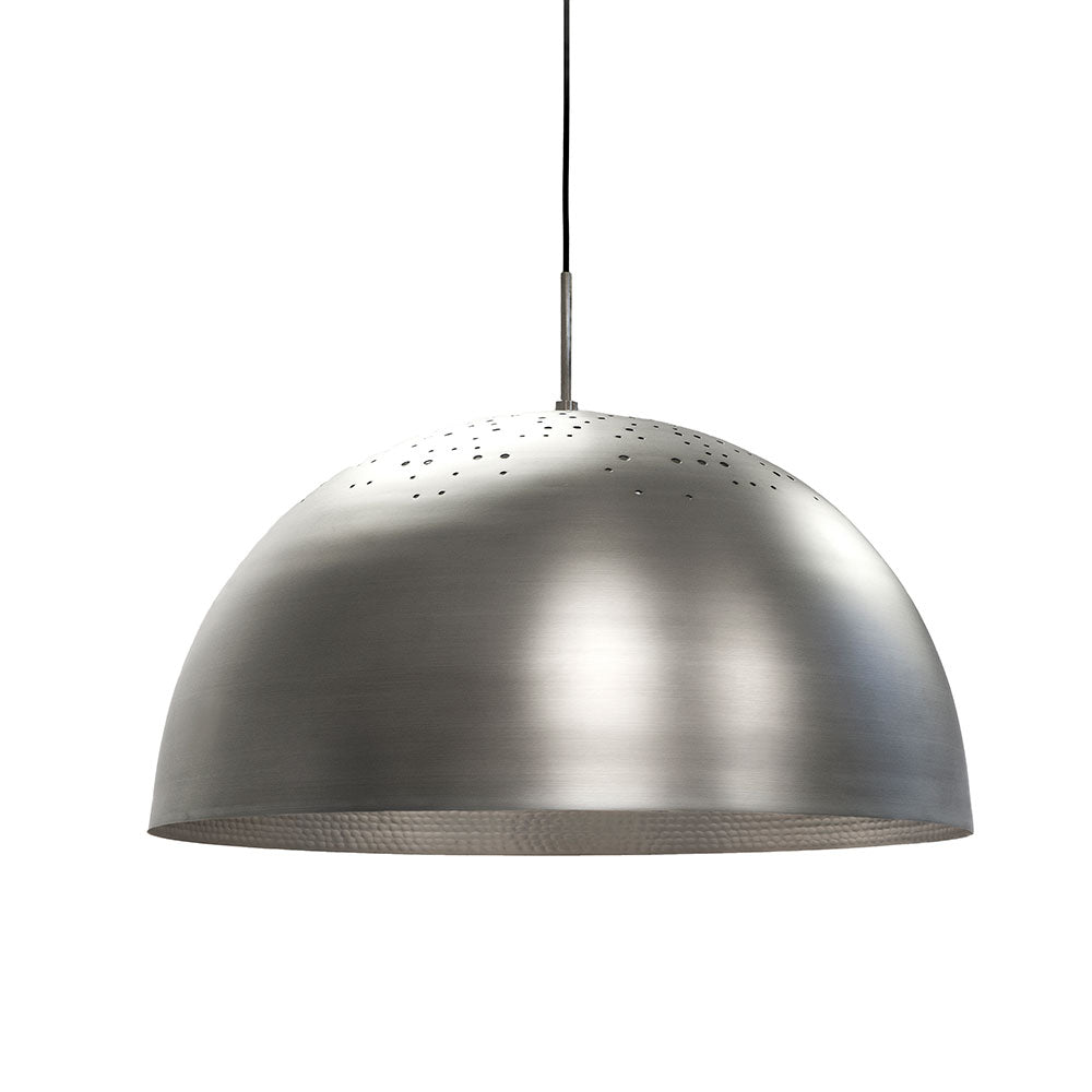 Shade Light Pendant - Clear Lacquered Spun Aluminium - Mater - Do