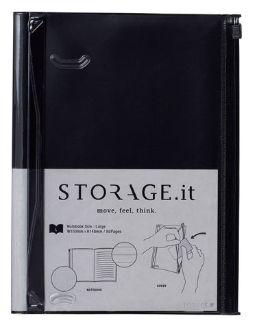 Storage.it Notebook Black - Large