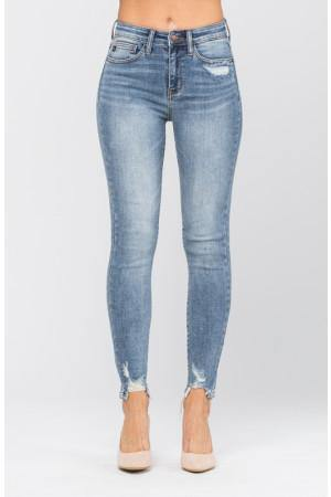 Destroyed Hem Non Distressed Skinny - The Salty Mare