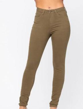 Fall Feels Olive Skinny Jean - The Salty Mare