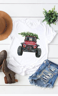 Jeep Christmas Tee - The Salty Mare
