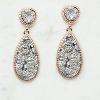 Tear Drop Druzy Earrings - The Salty Mare