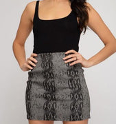Snake Print Mini Skirt - The Salty Mare