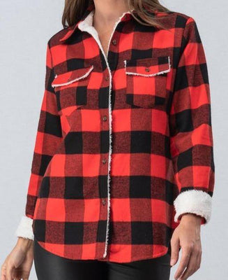 Winter Flannel Shirt Jacket
