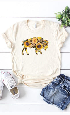 Sunflower Buffalo Tee - The Salty Mare