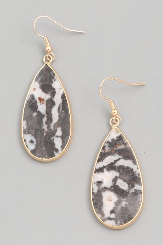 Semi Precious Tear Drop Earring - The Salty Mare