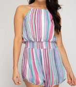 Chasing Rainbows Romper - The Salty Mare