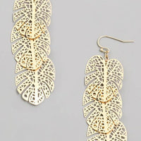 Layered Monstera Leaf Earrings - The Salty Mare