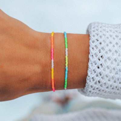Neon Ombre Seed Bead Bracelet - The Salty Mare