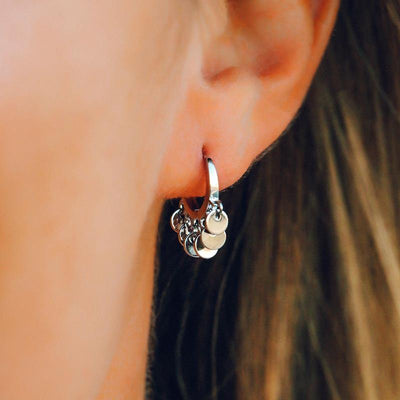 Mini Coin Huggie Earring - The Salty Mare