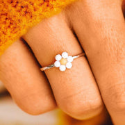 Gem Stone Daisy Ring - The Salty Mare