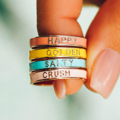 Enamel Word Ring