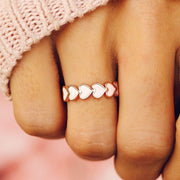 Love Hearts Band Ring - The Salty Mare