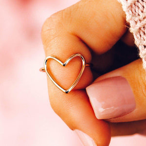 Statement Heart Ring - The Salty Mare