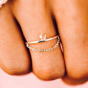 Stone Chain Ring - The Salty Mare