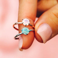 Iridescent Stone Ring - The Salty Mare