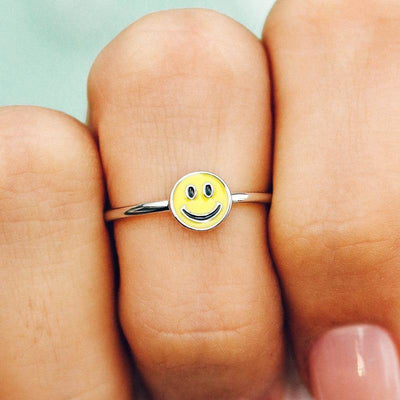 Enamel Happy Face Ring - The Salty Mare
