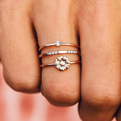 Daisy Pickin' Ring Stack - The Salty Mare