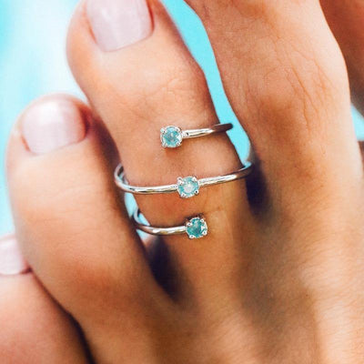 Triple Opal Wrap Toe Ring - The Salty Mare