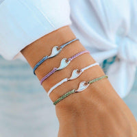 Mother of Pearl Wave Bracelet - The Salty Mare