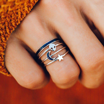 Lost in the Cosmos Ring Stack - The Salty Mare