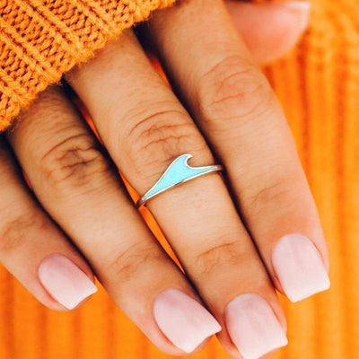 Mother of Pearl Wave Ring - The Salty Mare