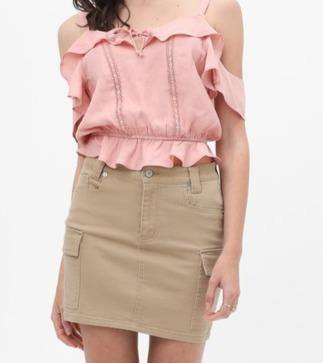 Cargo Mini Skirt - The Salty Mare