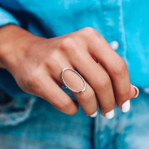 Oval Open Ring - The Salty Mare