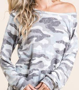 Camo-Fab Top - The Salty Mare
