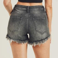 Gray Distressed Shorts - The Salty Mare