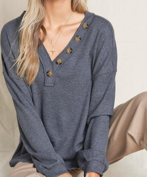 Let's Stay In Knit Top - The Salty Mare
