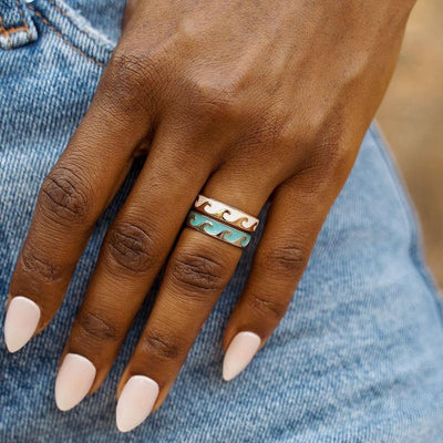 Reversible Wave Ring - The Salty Mare