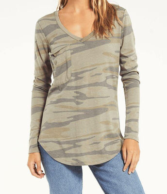 The Camo Long Sleeve Tee - The Salty Mare
