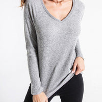 Brushed Rib Raglan Tee - The Salty Mare