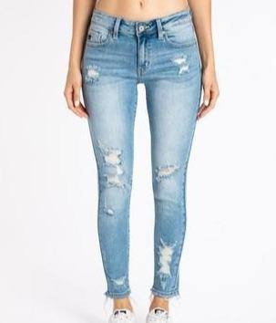 Mid Rise Ankle Skinny - The Salty Mare