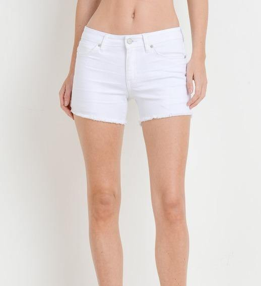 White Frayed Hem Short - The Salty Mare
