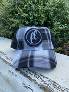 Black & White Plaid Florida Hat - The Salty Mare