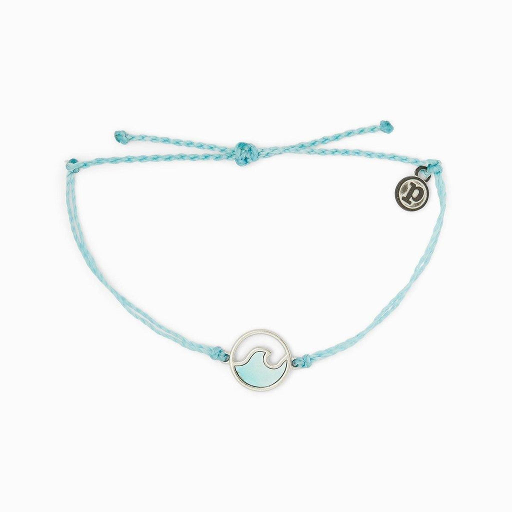 Silver Stone Wave Bracelet Crystal Blue - The Salty Mare