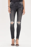 Lasting Impression Mid Rise Gray Skinny - The Salty Mare