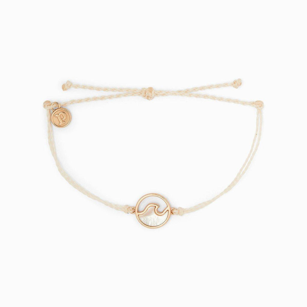 Rose Gold Stone Wave Bracelet Vanilla - The Salty Mare