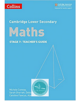 9780008213510, Cambridge Lower Secondary Maths Teacher's Guide Stage 7 paperback (New 2018)