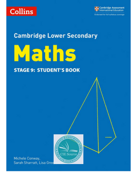 9780008213558, Cambridge Lower Secondary Maths Student's Book Stage 9 paperback (New 2018)