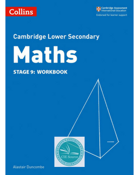 9780008213565, Cambridge Lower Secondary Maths Workbook Stage 9 (New 2018)
