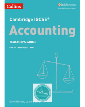 9780008254131, Cambridge IGCSE® Accounting Teacher's Guide paperback(New 2018) - CIE SOURCE